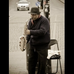 A moment of music in the pavement